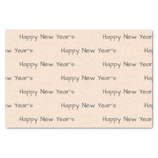 Light Bisque Custom Happy New Year Tissue Paper