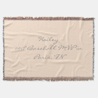 Light Bisque Custom Sports Accomplishment Throw Blanket