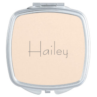Light Bisque Personalized Compact Mirror