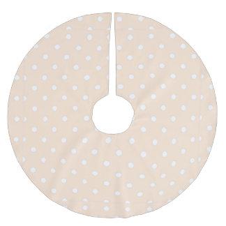 Light Bisque Polka Dot Brushed Polyester Tree Skirt