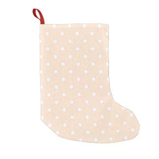 Light Bisque Polka Dot Small Christmas Stocking