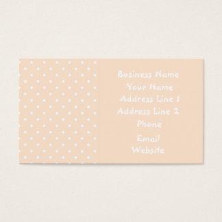 Light Bisque Polka Dot Template Business Cards