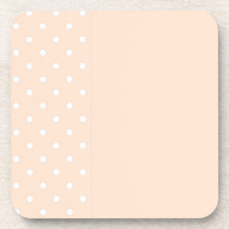 Light Bisque Polka Dots Coasters