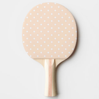 Light Bisque Polka Dots Ping Pong Paddle