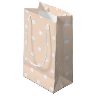 Light Bisque Polka Dots Small Gift Bag