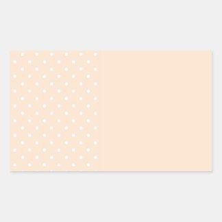 Light Bisque Polka Dots Rectangular Stickers