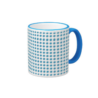 Light Blue 3 Side Boxes Ringer Coffee Mug