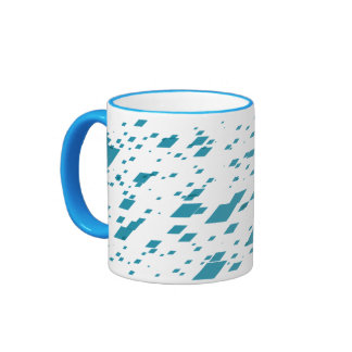 Light Blue 3d Boxes Ringer Mug