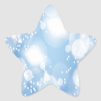 Light Blue Abstract Art Star Stickers