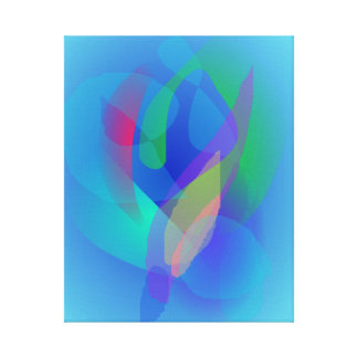 Light Blue Abstract Colors Gallery Wrapped Canvas