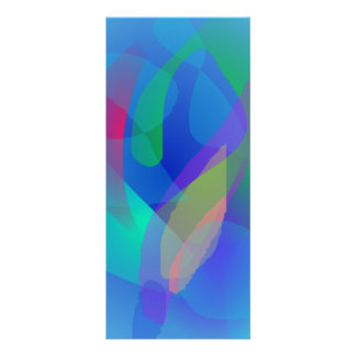 Light Blue Abstract Colors Full Color Rack Card