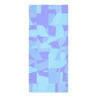 Light Blue Abstract Pattern Custom Rack Cards