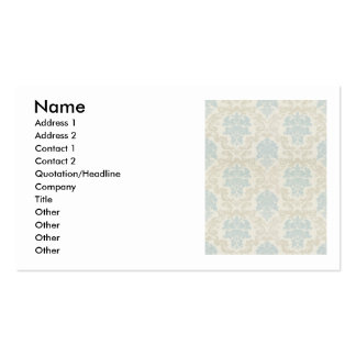 Light blue and beige damask pattern, chandelier pack of standard business cards