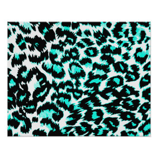Light Blue and Black Leopard Print
