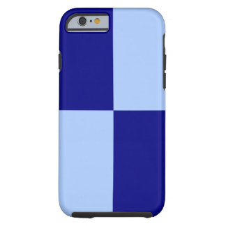 Light Blue and Dark Blue Rectangles iPhone 6 case Tough iPhone 6 Case