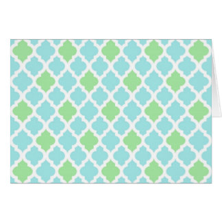 Light Blue and Green Note Card