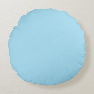Light Blue and Pink Colors Round Cushion