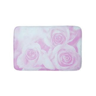 Light Blue and Pinkish Purple Roses Bath Mat