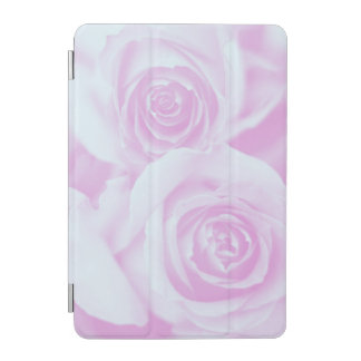 Light Blue and Pinkish Purple Roses iPad Mini Cover