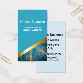 Light blue and Tribal mandala 8 business card