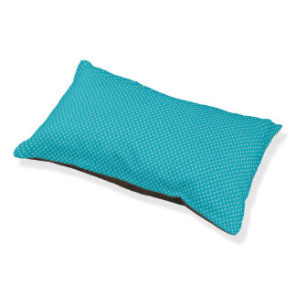 Light Blue and Turquoise Tiny X Patterned Dog Bed