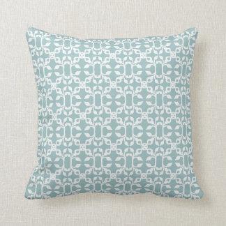 Light Blue And White Art Deco Modern Pattern Throw Pillow