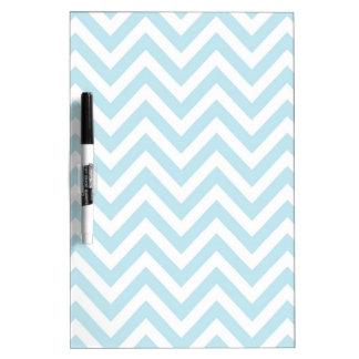 Light Blue and White Chevron Stripe Pattern Dry-Erase Whiteboards