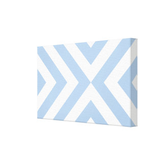 Light Blue and White Chevrons Canvas Prints