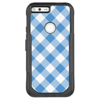 Light Blue and White Diagonal Plaid OtterBox Commuter Google Pixel XL Case