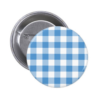 Light Blue and White Gingham Pattern Pin