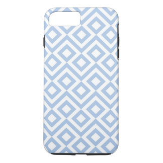 Light Blue and White Meander iPhone 7 Plus Case