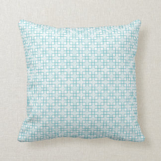 Light Blue and White Squares Plaid Pattern Pillows