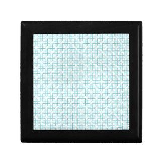 Light Blue and White Squares Plaid Pattern Keepsake Boxes