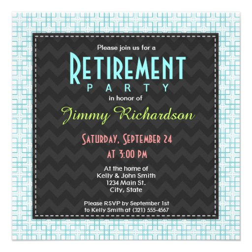 Light Blue and White Squares Plaid Pattern Invitations