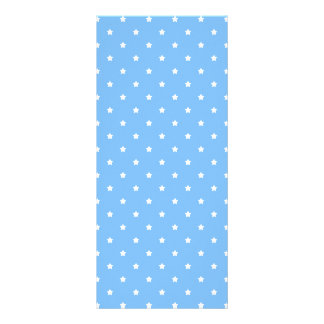 Light Blue and White. Star Pattern. Rack Cards