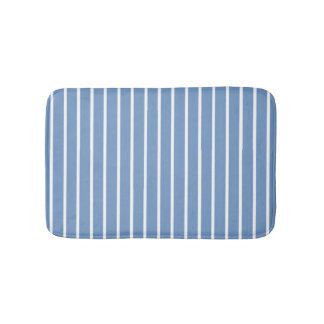 Light Blue and White Stripes Bath Mat
