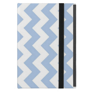 Light Blue and White Zigzag iPad Mini Case