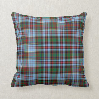 Light Blue Anderson Clan Scottish Plaid Cushions