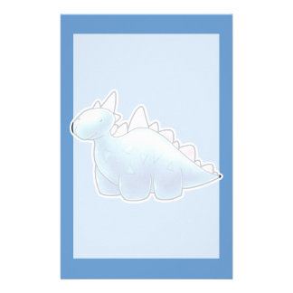 Light Blue Baby Dinosaur Stationery