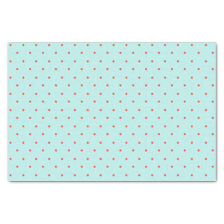 Light Blue Background with Orange Polka Dots Tissue Paper