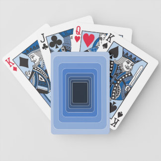 Light Blue Bands Playing Cards