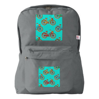 Light Blue Bicycle American Smoke Backpack
