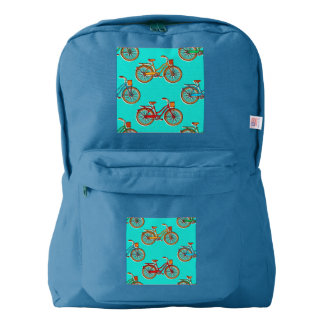 Light Blue Bicycle Royal American Backpack