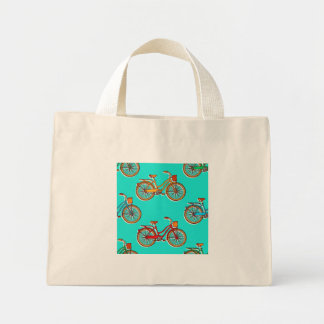 Light Blue Bicycle Small Tote Bag