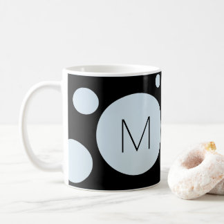 Light Blue/Black Dot Custom Mug