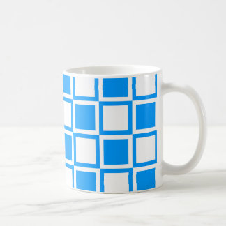 Light Blue Bold Mod Squares Coffee Mug