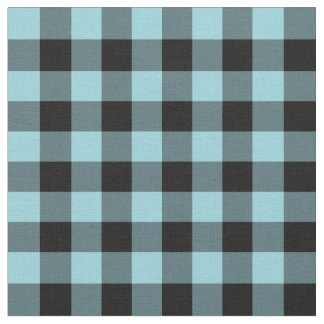 Light Blue Buffalo Check Plaid Fabric