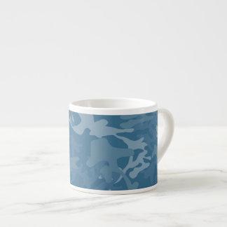 Light Blue Camo Espresso Mug 6 Oz Ceramic Espresso Cup