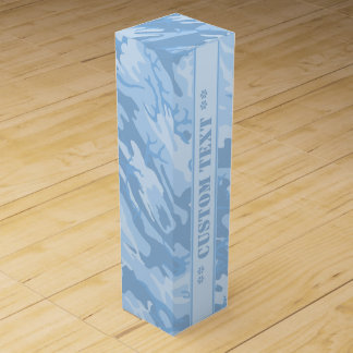 Light Blue Camo w/ Custom Text Wine Boxes