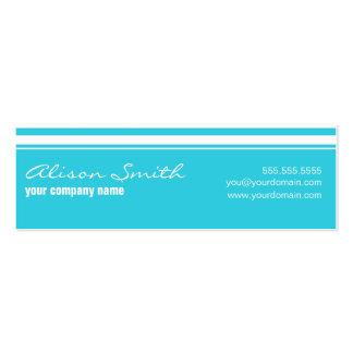 Light-blue card pack of skinny business cards
